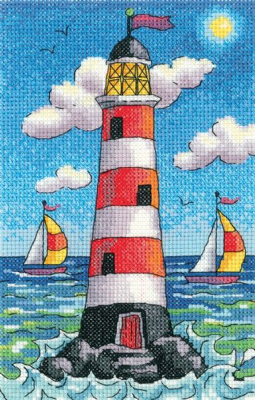 Lighthouse by Day Cross Stitch Kit by  Karen Carter